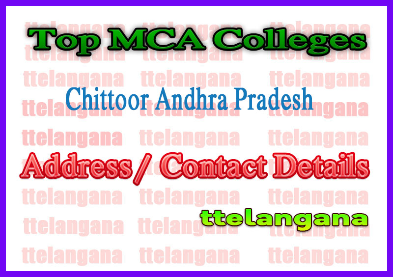 Top MCA Colleges in Chittoor Andhra Pradesh