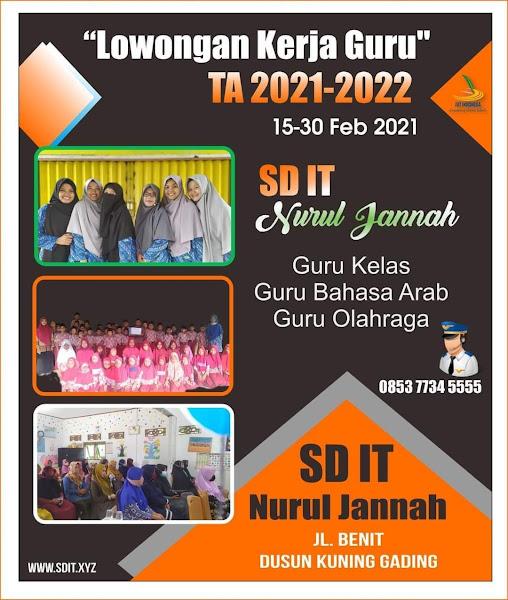 Lowongan Kerja Guru Sekolah Dasar Islam Terpadu Nurul Jannah