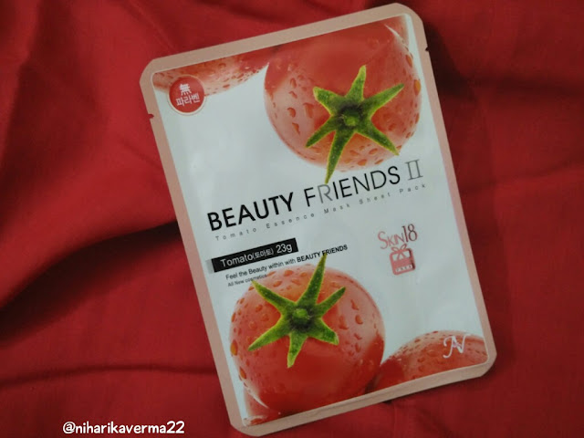 Soft and Glowing skin with Skin18 Face Mask Sheet | Beauty Friends | Royal Jelly & Tomato 4