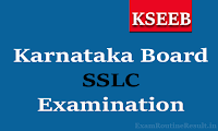 karnataka sslc time table 2018 pdf kseeb sslc exam