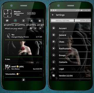 BBM MOD BLACK Extra SosMed V3.2.0.6 APK