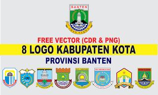 Free Vector Logo 5 Kabupaten Kota Banten PNG