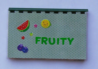 Fruity blank recipe book