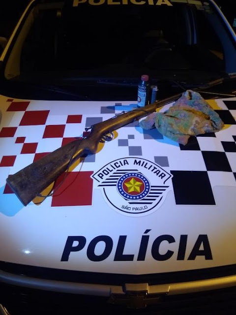 Polícia Militar de Osvaldo Cruz faz flagrante por porte ilegal de arma  Arma e munições foram apreendidas.  25º BPM