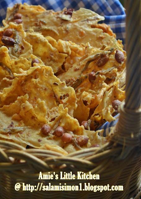 resepi rempeyek kacang tanah ikan bilis satu resepi Resepi Roti Telur Pedas Enak dan Mudah