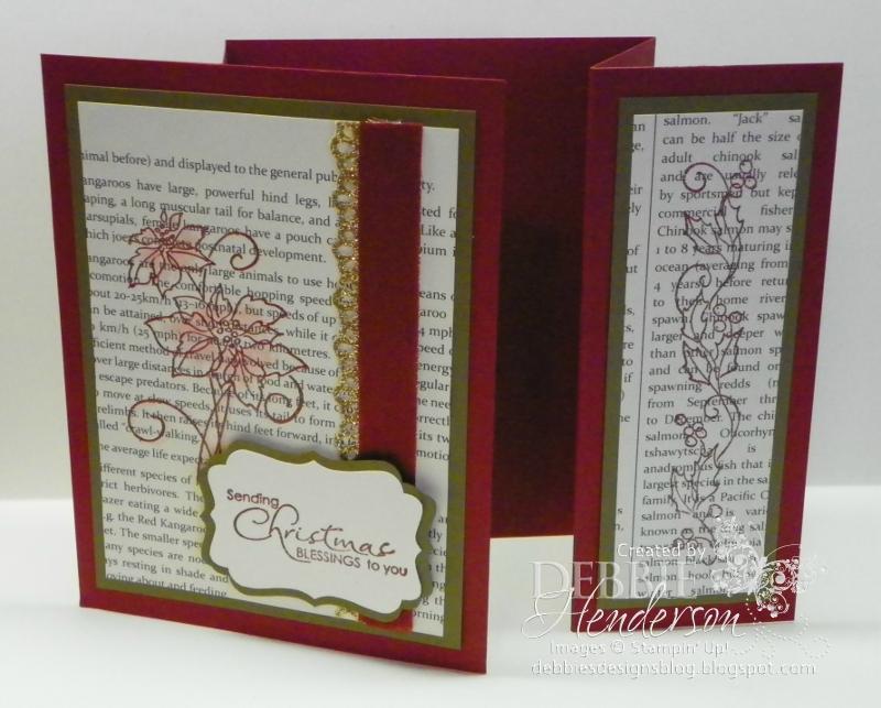 Debbie\'s Designs: Double Fold Christmas Card!