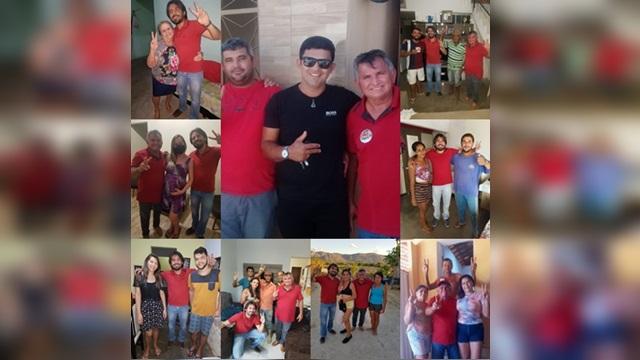 Fim de semana de visitas e adesões para Rogério Campos em Cacimba de Areia