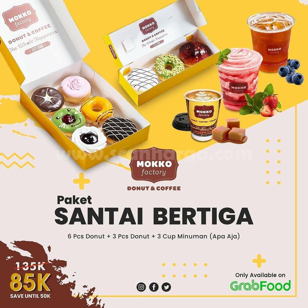 Mokko Factory Promo Paket Santai Bertiga hanya 85K via Grabfood