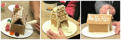 Gingerbread STEM program, graham cracker houses, mini gingerbread house program for kids,