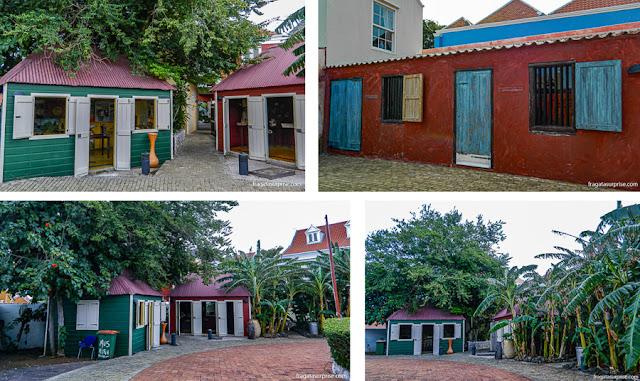 Reprodução de uma aldeia africana no Museu Kura Hulanda, Curaçao