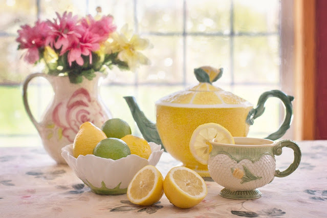 pretty afternoon tea cup and pot