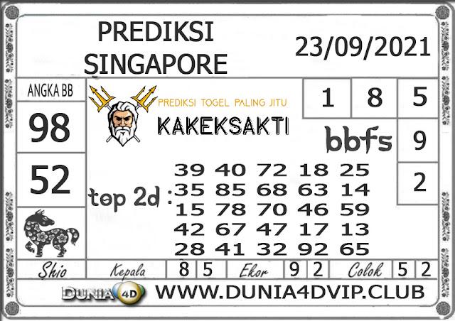 Prediksi Togel SINGAPORE DUNIA4D 23 SEPTEMBER 2021