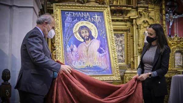 El Cristo del Prendimiento protagoniza el cartel de la Semana Santa de Cádiz de 2021