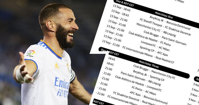 Real Madrid's Champions League calendar revealed with Inter opening game.
