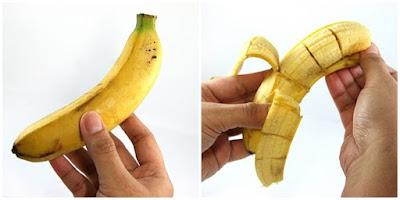 The Magic Banana: Bikin Pisang Utuh Terbelah Isinya Dengan Trik Berikut Ini