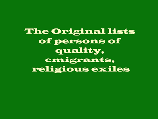 The Original lists of persons of quality, emigrants