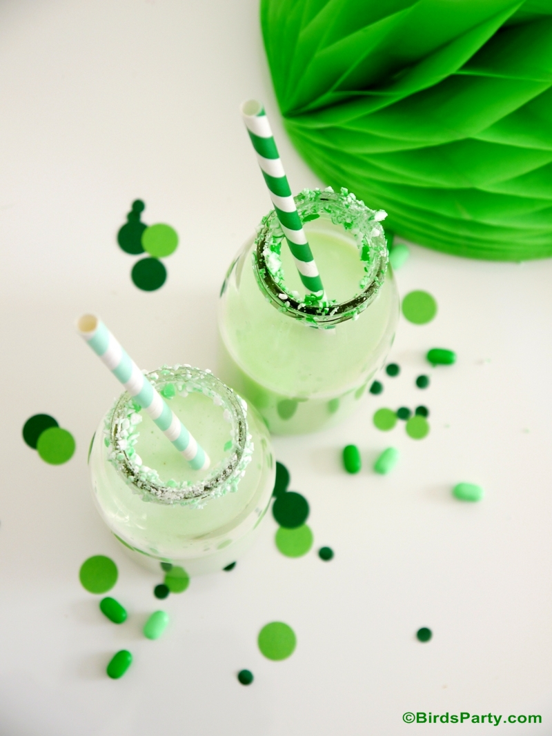 Party Recipes with Tic Tac® - Mint Milkshake White Chocolate Milkshake