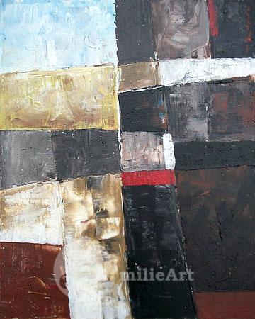 lukisan abstrak modern minimalis