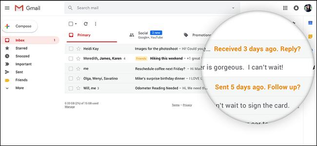 promemoria sulle email non ancora aperte