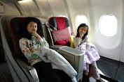 Mencoba Garuda Bisnis Bareng Anak-Anak