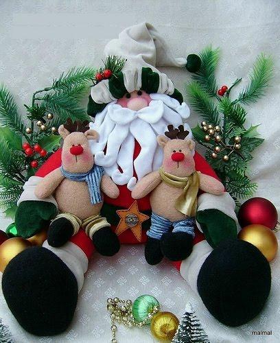 Boneco Do Papai Noel Grande Com Molde Para Decoração De