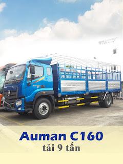xe tải thaco auman c160 tải 9 tấn thùng 7,4 mét