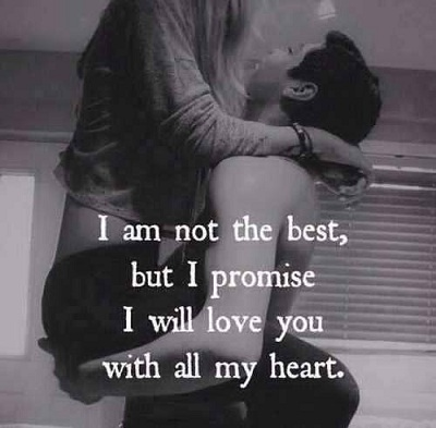I promise I will love you with all my heart