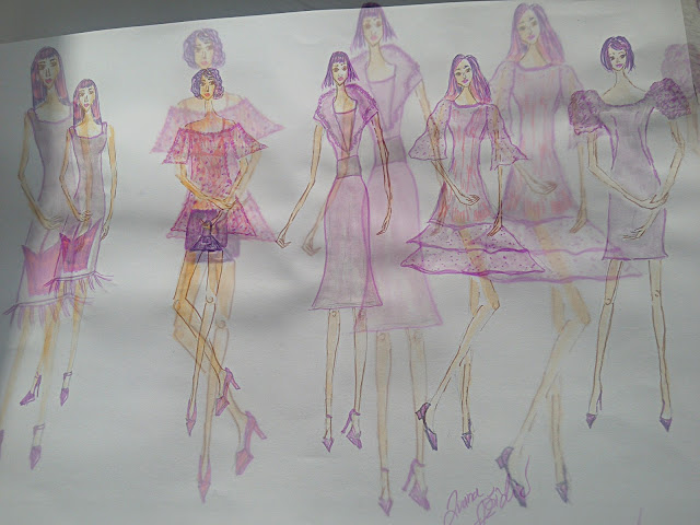 Ultra Violet Mini Spring Collection - Fashion Illustrations of the Day
