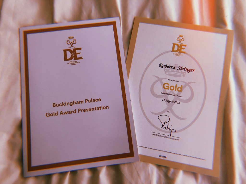 MY GOLD DUKE OF EDINBURGH AWARD