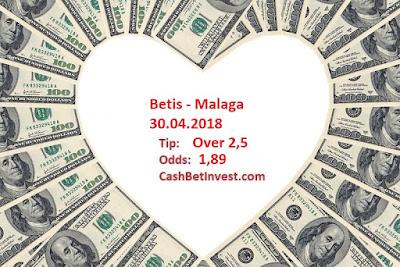 Betis - Malaga 30.04.2018 - Cash Bet Invest