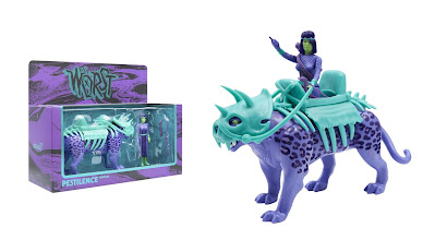 The Four Worstmen of the Apocalypse Shedusa with Pestilence Leopard ReAction Figure Set by Super7