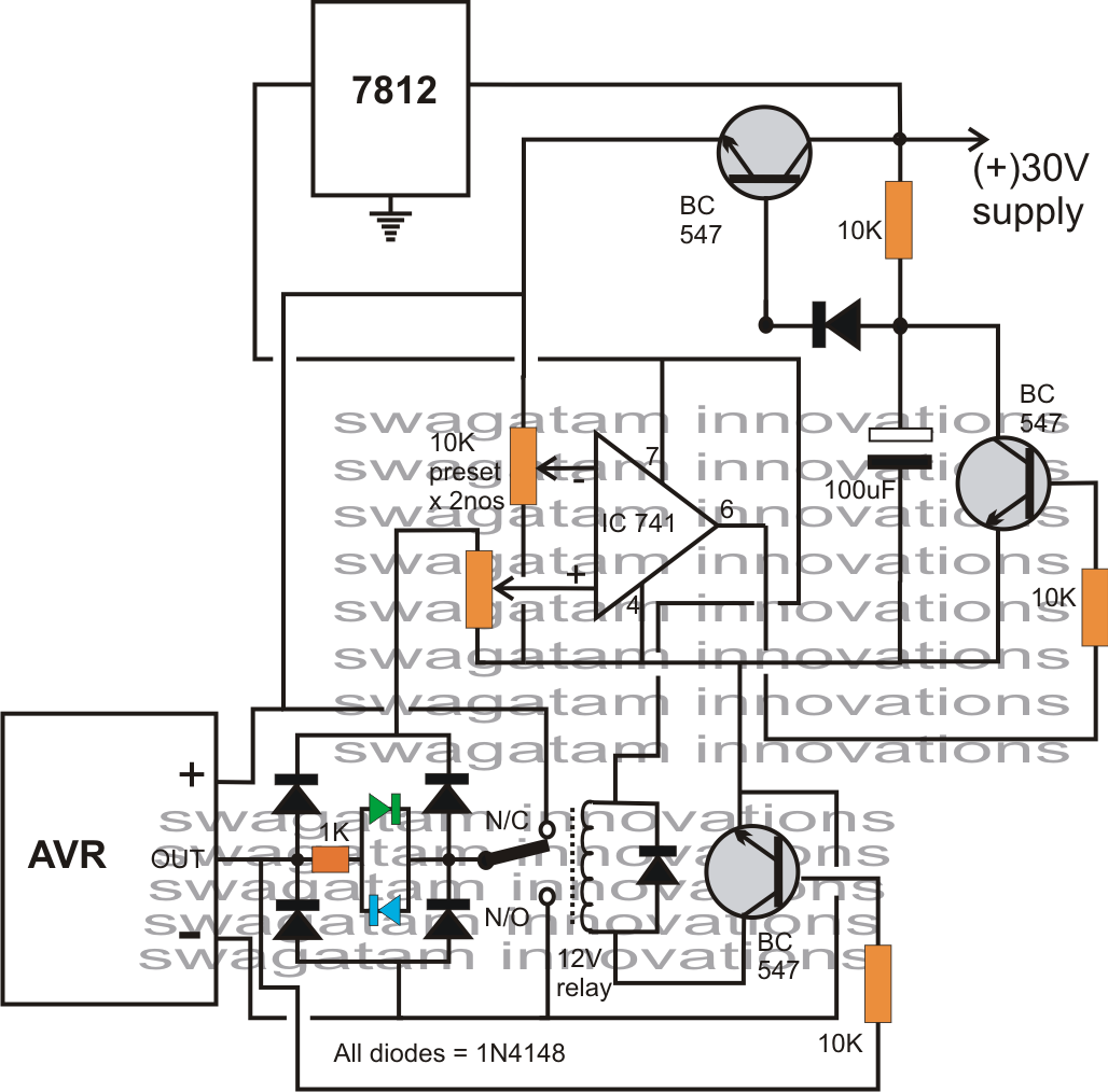 Automatic Voltage Regulator Avryzer Circuit