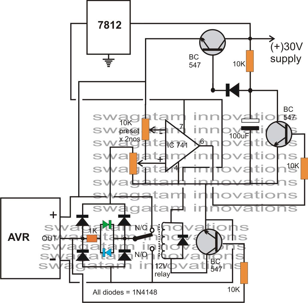 Generator Avr Circuit Diagram Dodge Caravan Wiring Automatic Voltage Regulator Analyzer