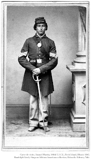 Carte-de-visite, standing portrait of Samuel Martin, 108th USCI.