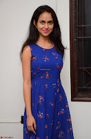 Pallavi Dora Actress in Sleeveless Blue Short dress at Prema Entha Madhuram Priyuraalu Antha Katinam teaser launch 055.jpg