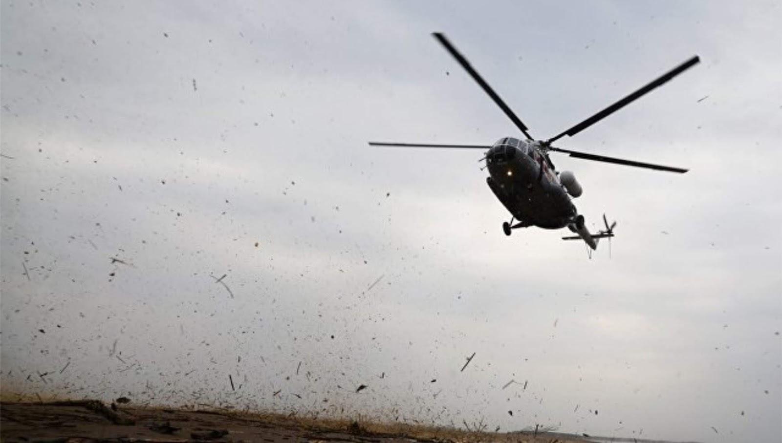 Helikopter penumpang Mi-8 jatuh di Rusia
