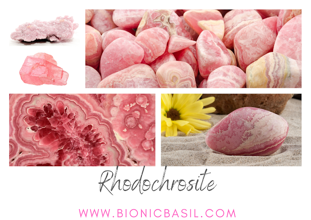 Colouring with Cats ©BionicBasil® Crystal of The Week - Rhodochrosite