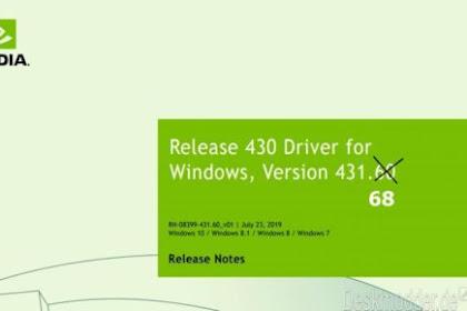 Driver Perbaikan Terbaru GeForce 431.68 Telah Dirilis