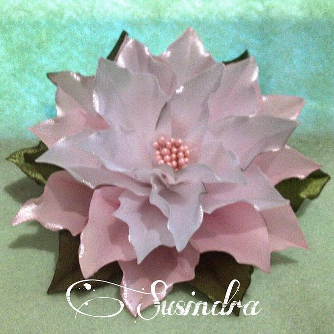 Bunga Poinsettia Pita Pink