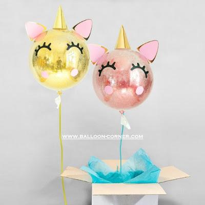 Ide Dekorasi Ulang Tahun Anak Tema UNICORN Dengan Balon PVC Transparan