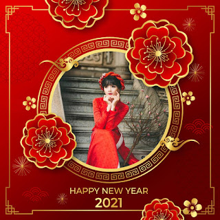 Tạo avatar khung ảnh tết Tân Sửu 2021