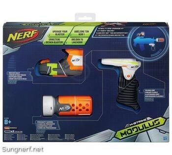Bộ Phụ Kiện Nerf Stealth Ops Tay Cầm, Nòng, Kính Nhắm