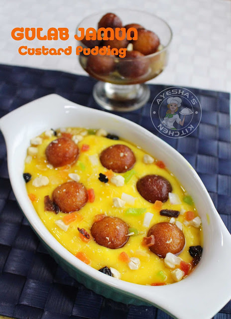 gulab jamun custard pudding caramel custard easy simple pudding