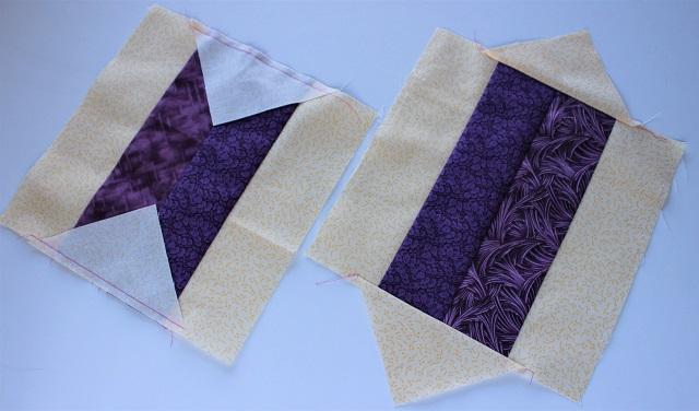 Brick Yard scrappy quilt block sewing background corner triangles