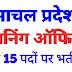 हिमाचल प्रदेश में प्लानिंग ऑफिसर के पदों पर भर्ती, सैलरी 15,000/-