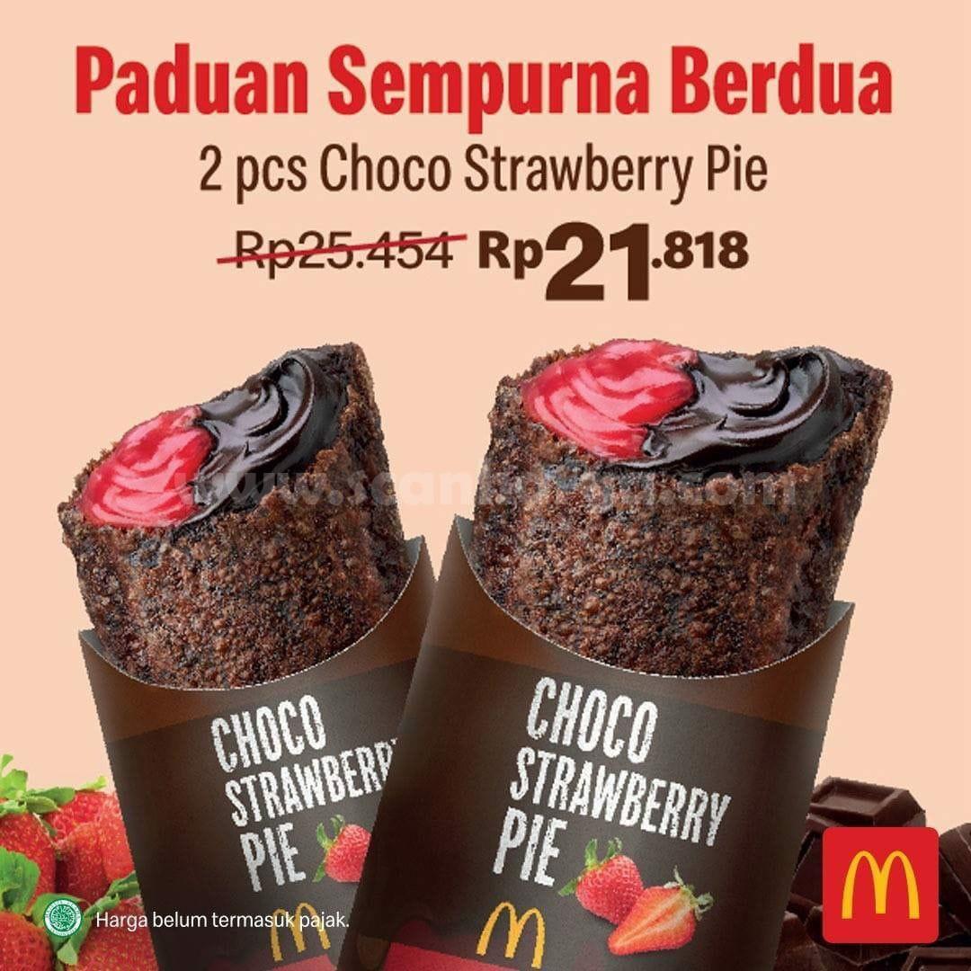 McDonalds Promo Choco Strawberry Pie McD! 2 Pcs Pie Rp 21RB!!