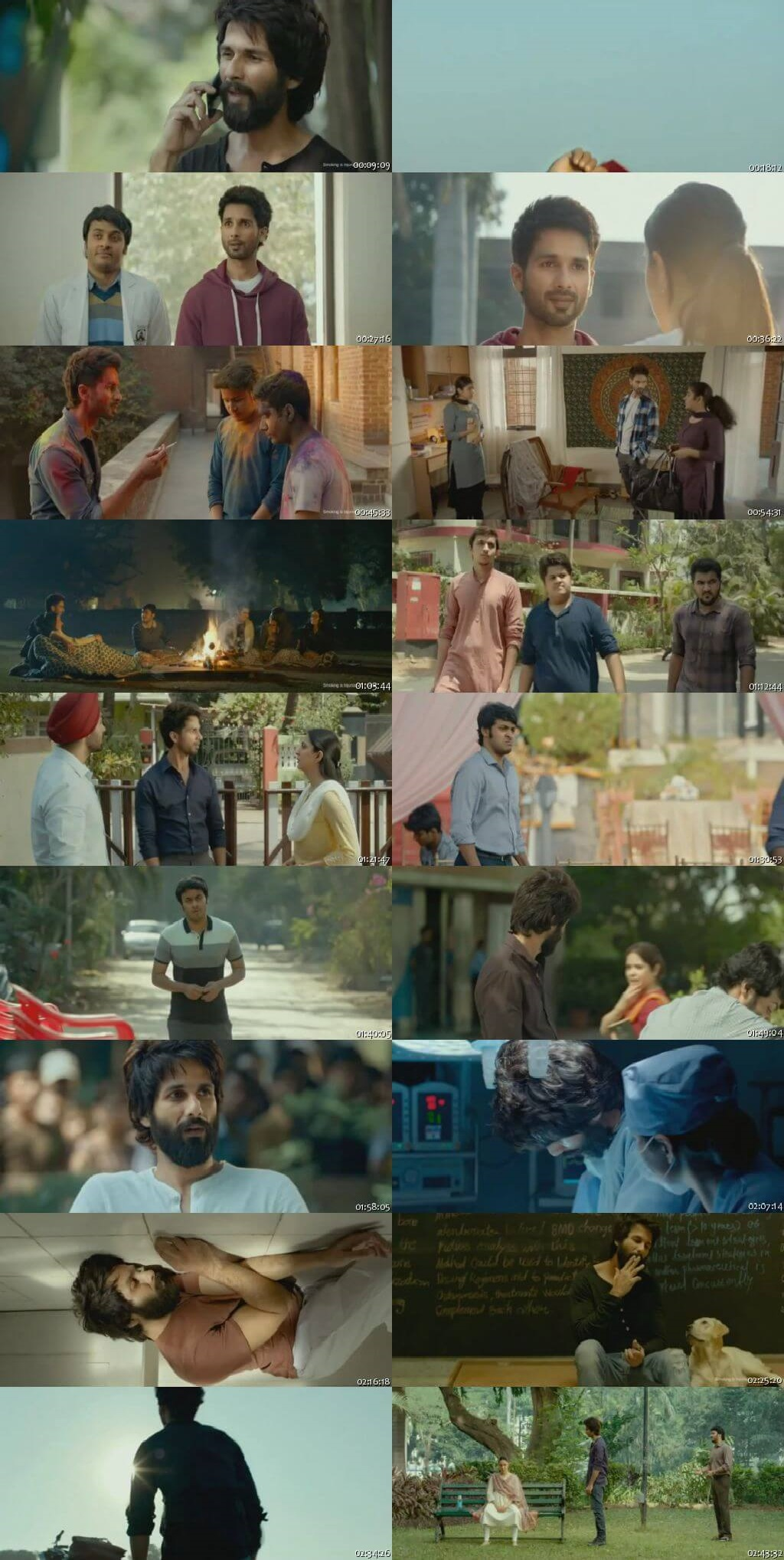 Screen Shot Of Kabir Singh 2019 300MB HDRip 480P Full Hindi Movie Watch Online Free Download