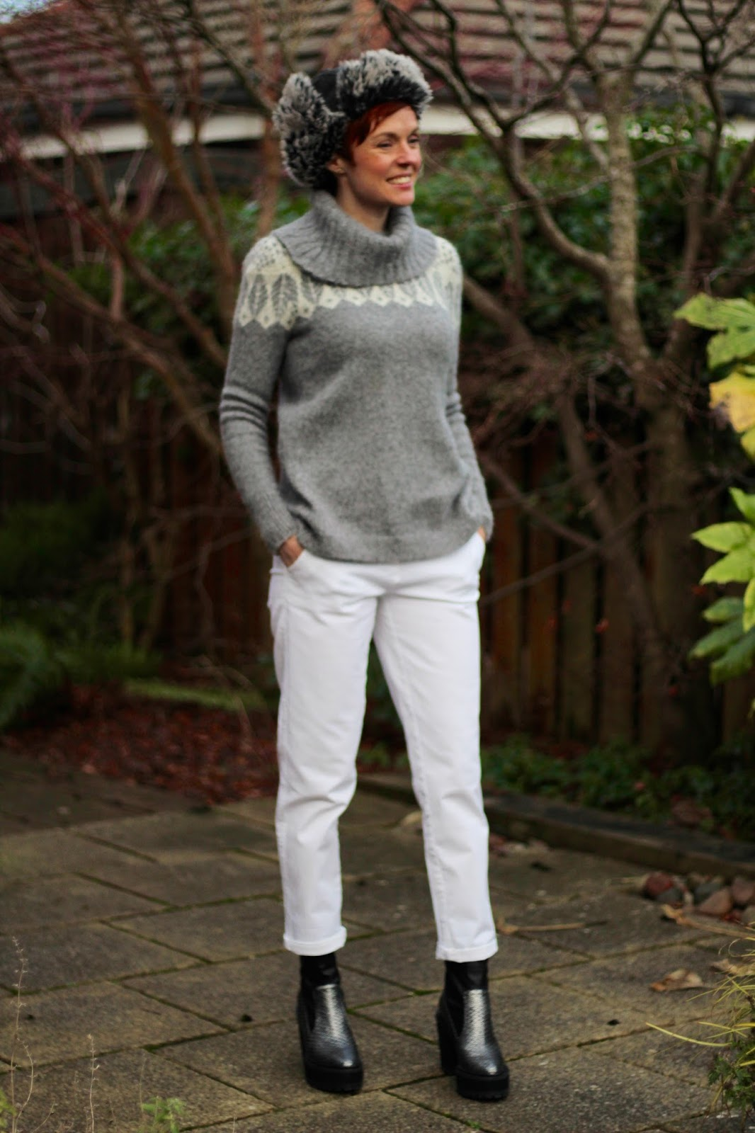 Winter white, wearing white jeans in Winter | Fake Fabulous