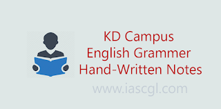 KD Campus English Grammar Notes
