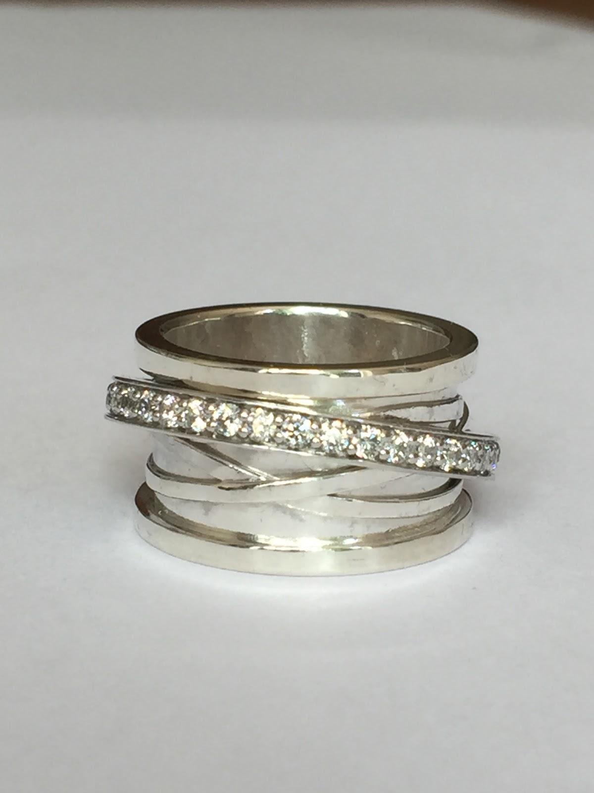 zilveren ring oprekken